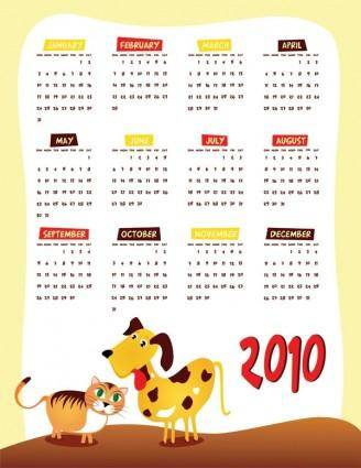 free vector Lovely 2010 calendar vector