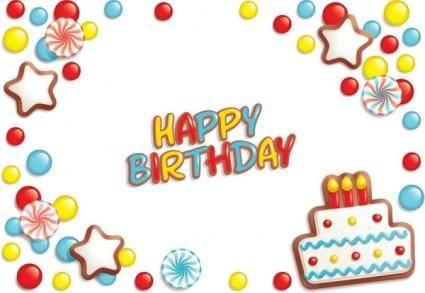 free vector Happy birthday elements 02 vector
