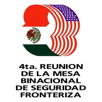 free vector 4ta reunion de la mesa binacional de seguridad fronteriza