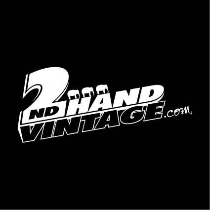 free vector 2nd hand vintage