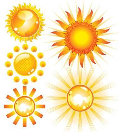 free vector Lovely sun vector