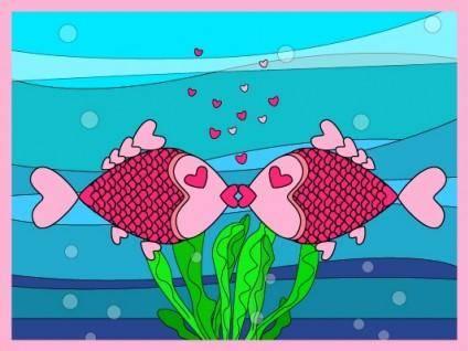 free vector Original lover fish