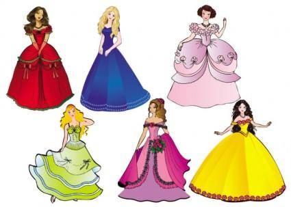 free vector Beautiful princess 02 vector
