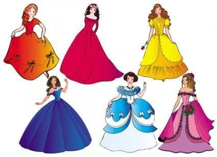 free vector Beautiful princess 03 vector