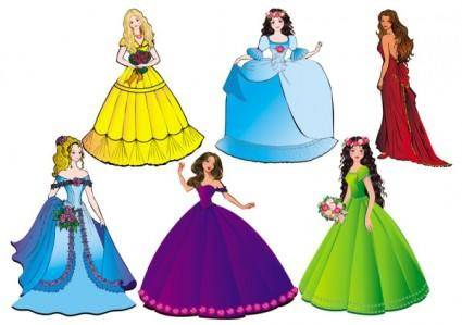 free vector Beautiful princess 04 vector
