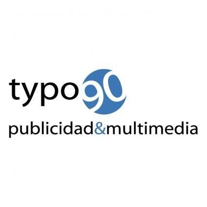 free vector Typo 90