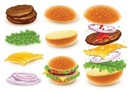 free vector Fast food 01 vector