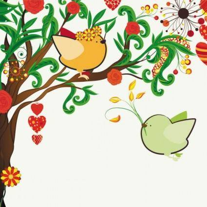 free vector Handdrawn illustration love birds 01 vector