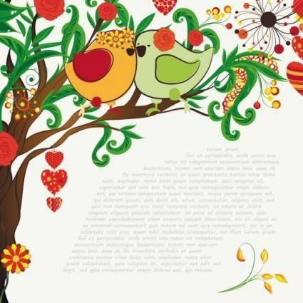 free vector Handdrawn illustration love birds 03 vector