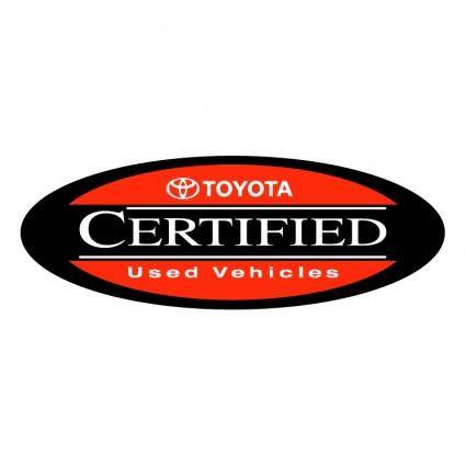 free vector Toyota certified used vehicles
