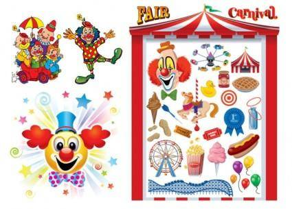 Clowns u0026amp carnival vector