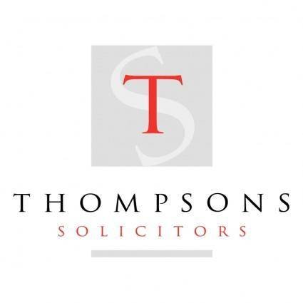 free vector Thompsons solicitors