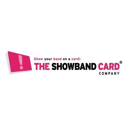 free vector The showband card company
