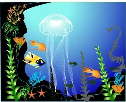 free vector Underwater world vector