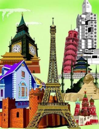 Various wellknown city building vector