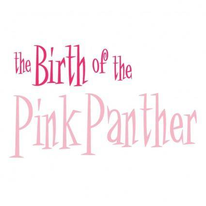 free vector The birth of the pink panther