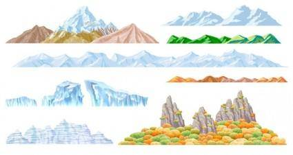 free vector Beautiful mountains vector