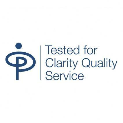 Tested for clarity quality services