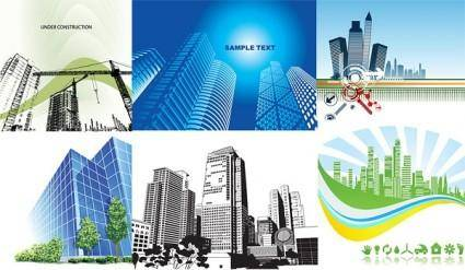 6 architectural theme vector