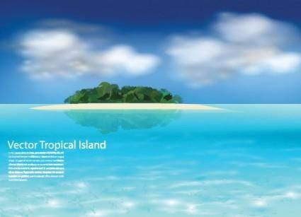 free vector Sea island vector