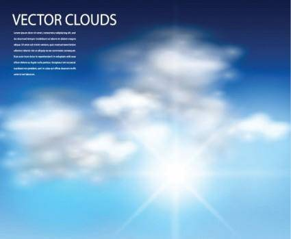 free vector Vector blue sky