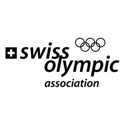 free vector Swiss olympic association 0