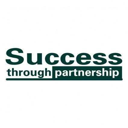 free vector Success through partnership