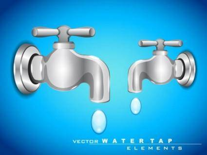 free vector The faucet 01 vector