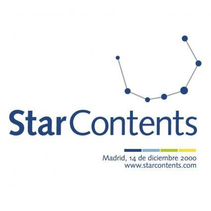 free vector Star contents