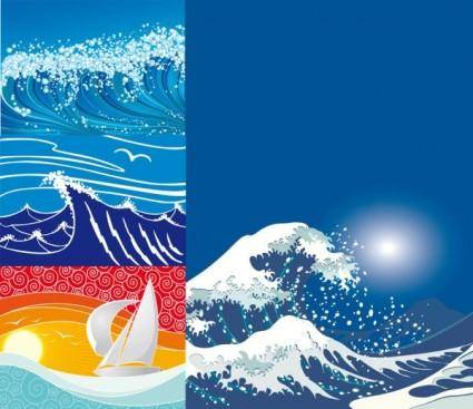 free vector Wave vector subject