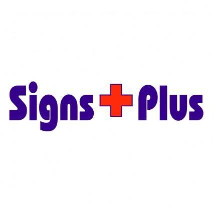 free vector Signs plus