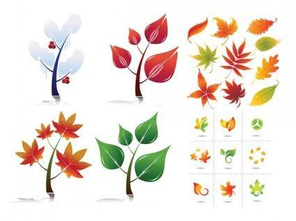 free vector Leaves vector