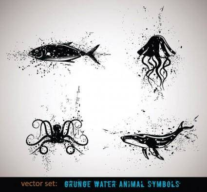 free vector Ink animals vector 4