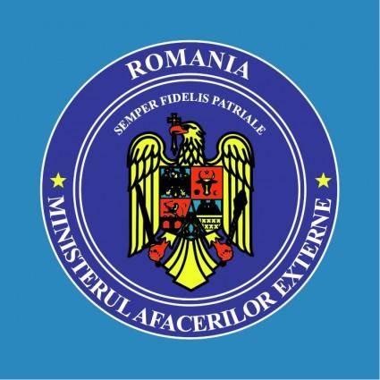 free vector Romania minister afaceri externe