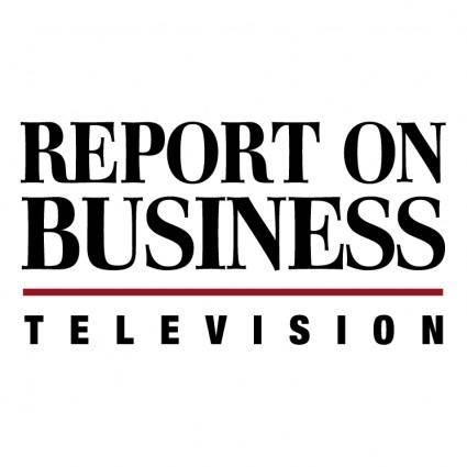 free vector Report on business television