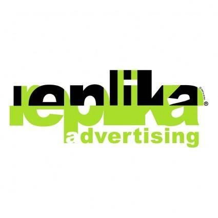 free vector Replika advertising
