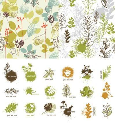 Handpainted plant vector