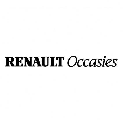 free vector Renault occasies