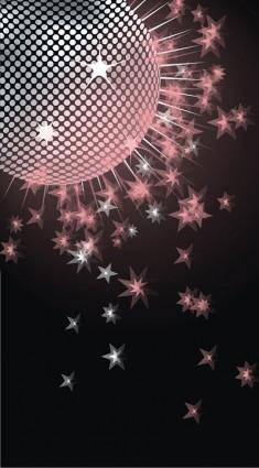 Dream disco crystal ball vector
