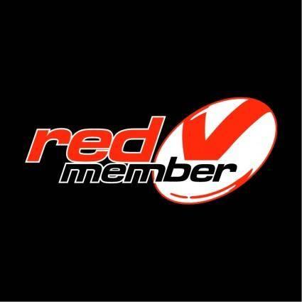 free vector Red member