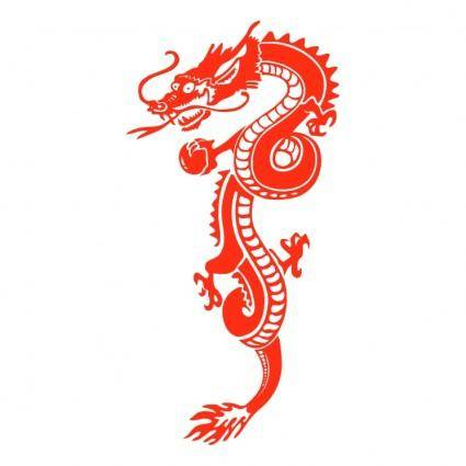 free vector Red dragon
