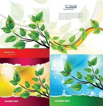 Green ladybug theme vector