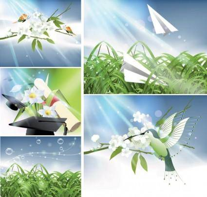 free vector Vector nature of light and plant
