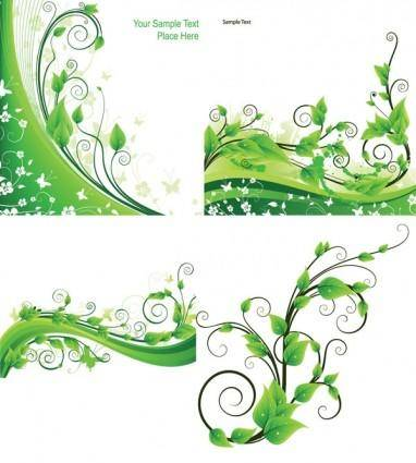 free vector Green rattan plant vector