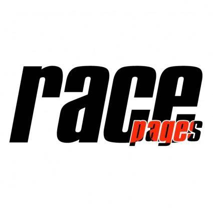 free vector Race pages 0