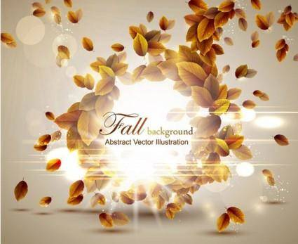 free vector Autumn leaves vector 5 graphic design