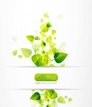free vector Spring green leaves 04 vector