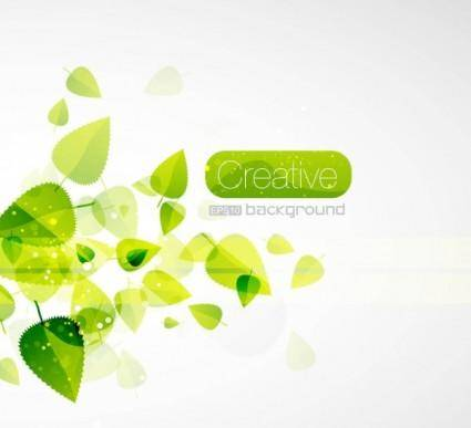 Spring green leaves 05 vector