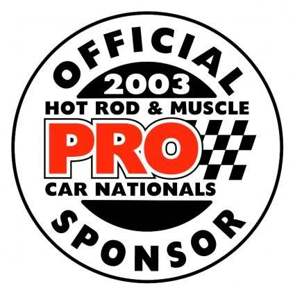 Pro offical sponsor
