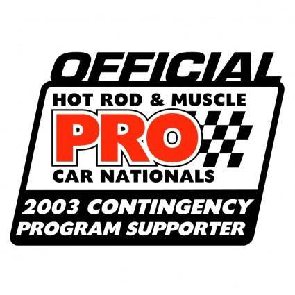 free vector Pro offical contingency sponsor